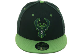 Exclusive New Era Milwaukee Bucks Hat - 2T Green, Lime Green