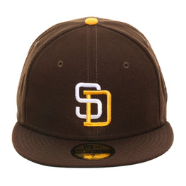 Exclusive New Era 59Fifty San Diego Padres 1985 Hat - Brown, Gold, White