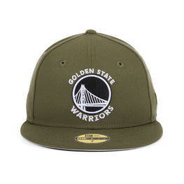 Exclusive New Era 59Fifty Golden State Warriors Hat - Olive, Black, White