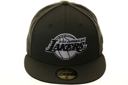Exclusive New Era 59Fifty Los Angeles Lakers Hat - Olive, Black, White