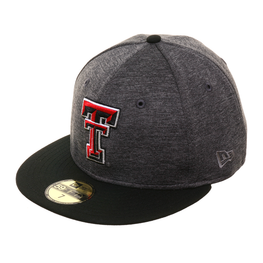 Exclusive New Era 59Fifty Texas Tech Red Raiders Shadow Hat - 2T Graphite, Black
