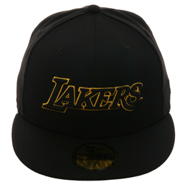 Exclusive New Era 59Fifty Los Angeles Lakers Jersey Hat - Black, Gold