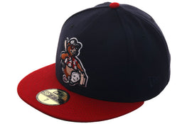 Exclusive New Era 59Fifty Asheville Tourists 1980 Hat - 2T Navy, Red