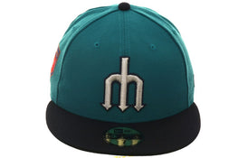 Exclusive New Era 59Fifty Seattle Mariners 2018 Spring Training Patch Hat - 2T Navy, Teal