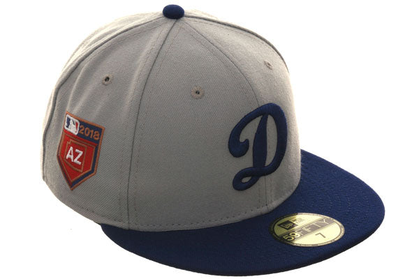 Exclusive New Era 59Fifty Los Angeles Dodgers 2018 Spring Training Patch Hat - 2T Gray, Royal