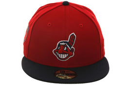Exclusive New Era 59Fifty Cleveland Indians 2018 Spring Training Patch Hat - 2T Red, Navy
