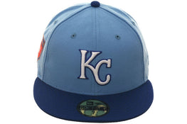 Exclusive New Era 59Fifty Kansas City Royals 2018 Spring Training Patch Hat - 2T Light Blue, Royal