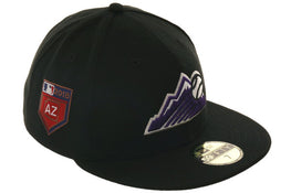 Exclusive New Era 59Fifty Colorado Rockies 2018 Spring Training Patch Hat - Black