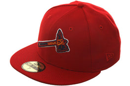 Exclusive New Era 59Fifty Atlanta Braves BP Logo Hat - Red