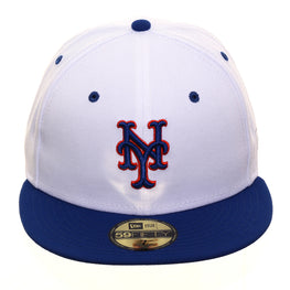 Exclusive New Era 59Fifty New York Mets Hat - 2T White, Royal