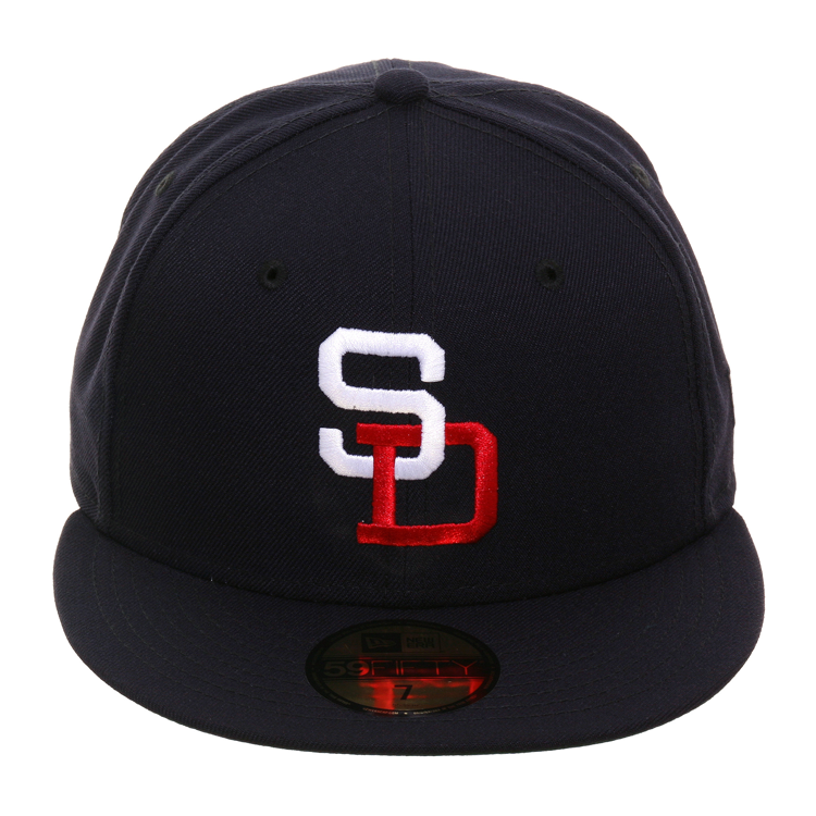 Exclusive New Era 59Fifty PCL San Diego Padres Hat - Navy, White, Red