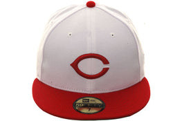 Exclusive New Era Cincinnati Reds 1957 Hat - 2T White, Red
