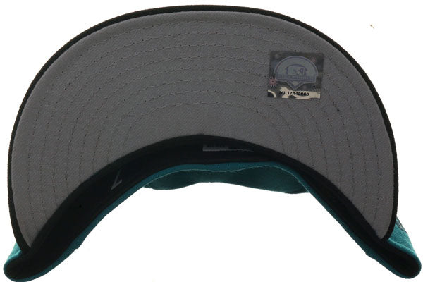 Exclusive New Era 59Fifty Sidewinders Hat - 2T Teal, Black