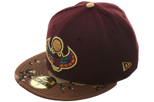 Exclusive New Era 59Fifty Dionic Myth Scarab Hat - 2T Maroon, Desert Camo