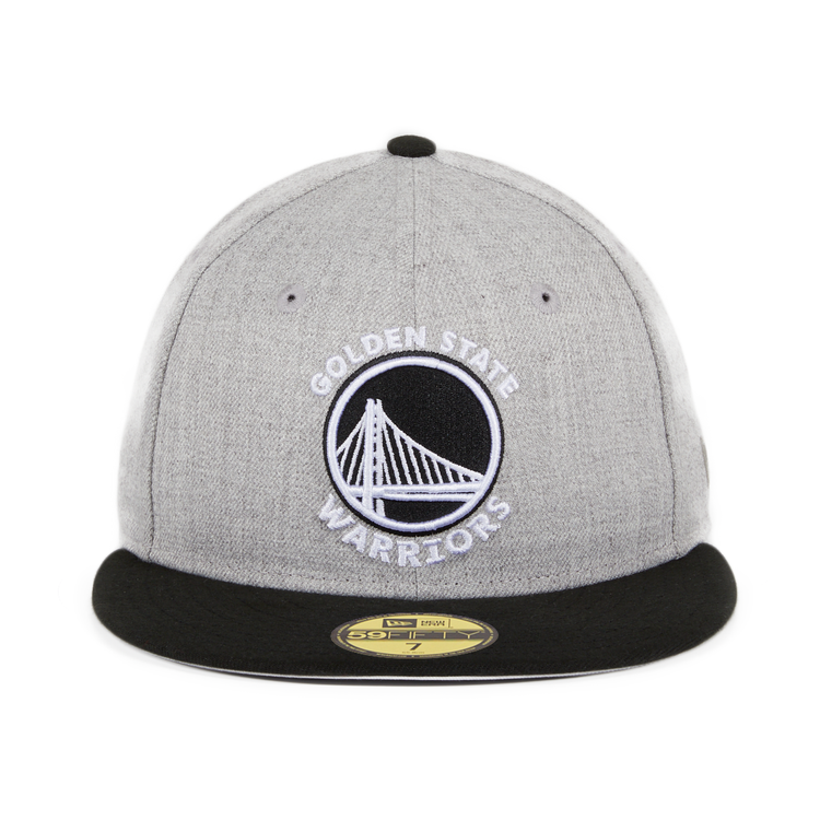 Exclusive New Era 59Fifty Golden State Warriors Hat - 2T Heather Gray, Black