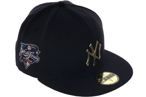 Exclusive New Era 59Fifty New York Yankees 2000 World Series Patch Metal Badge Hat - Navy