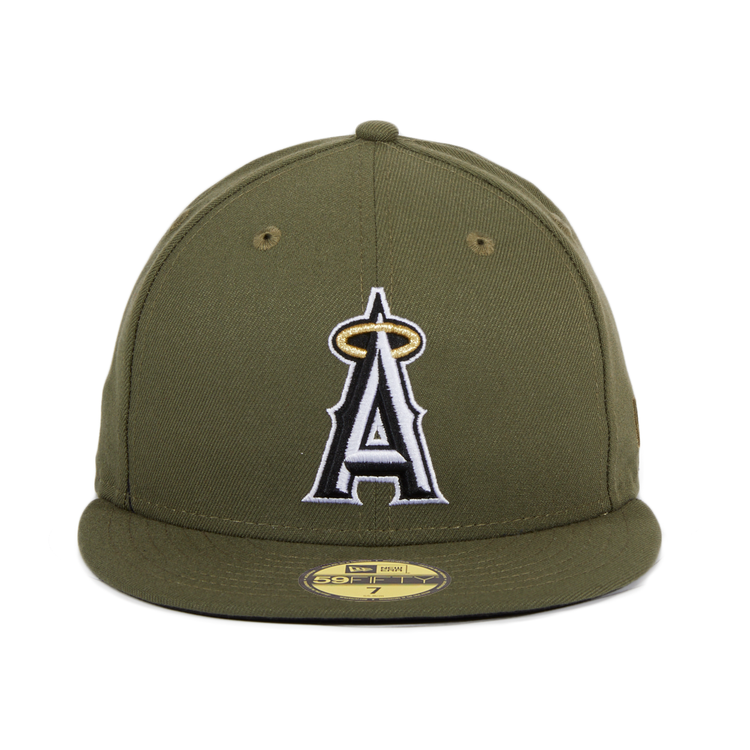 Exclusive New Era 59Fifty Los Angeles Angels Hat - Olive