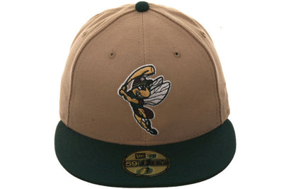 Exclusive New Era 59Fifty Savannah Sand Gnats Hat - 2T Khaki & Green