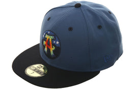 Exclusive New Era 59Fifty Asheville Tourists Tiedye Hat - 2T Indigo, Navy