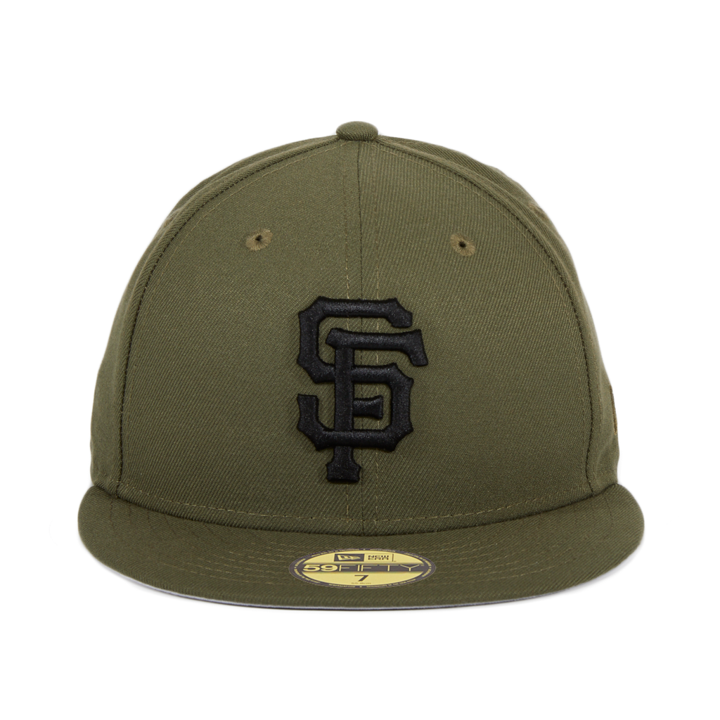 Exclusive New Era 59Fifty San Francisco Giants Hat - Olive, Black