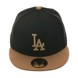 Exclusive New Era 59Fifty Los Angeles Dodgers Hat - 2T Black, Khaki