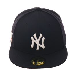 Exclusive New Era 59Fifty New York Yankees USA Flag w  Red Undervisor Hat -  Navy a7ef2396300