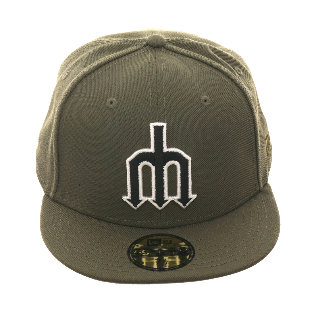 b7c953190a1 Exclusive New Era 59Fifty Seattle Mariners BP Fitted Hat - Olive ...