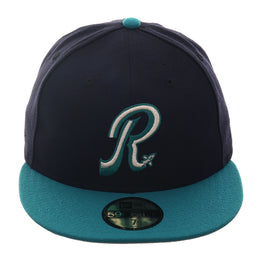 Exclusive New Era 59Fifty Riverside Pilots Hat - 2T Navy, Teal