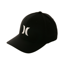 Hurley One & Only Flexfit Hat - Black, White