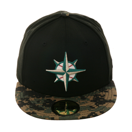 Exclusive New Era Seattle Mariners 1997 Hat - 2T Black, Digital Camo