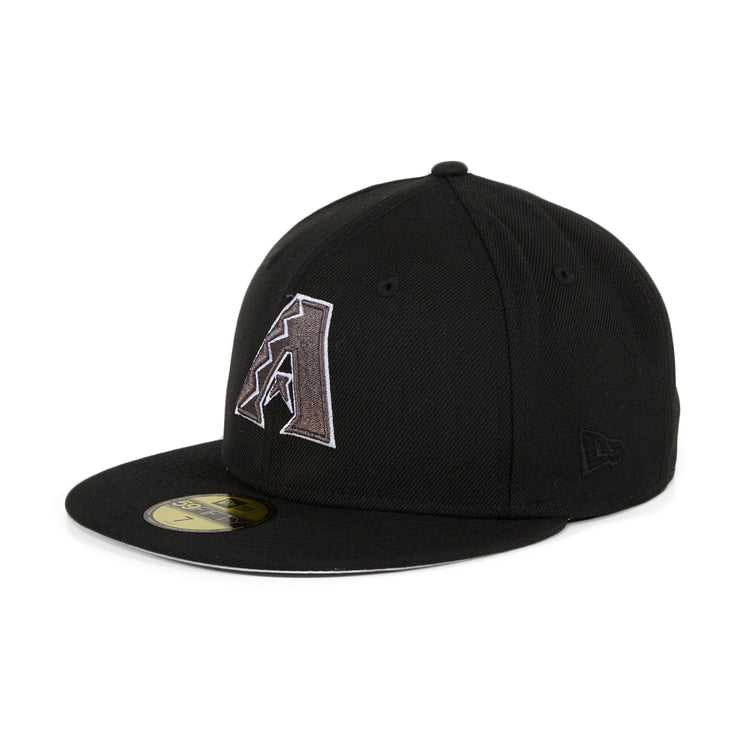 Exclusive New Era 59Fifty Arizona Diamondbacks Mexico Flag Hat - Black , Graphite