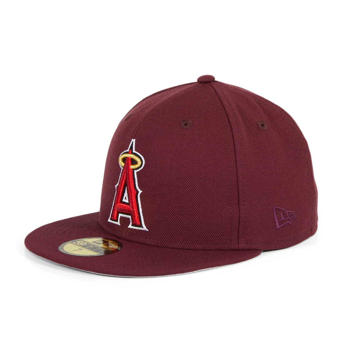 Exclusive New Era 59Fifty Los Angeles Angels Hat - Maroon