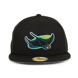 Exclusive New Era 59Fifty Devil Rays Hat - Black