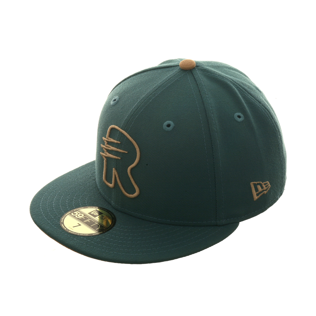 Dionic New Era 59Fifty Raptors R  Hat - Green , Khaki