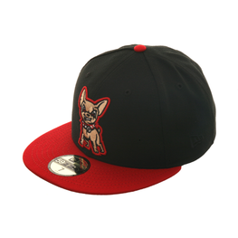 Exclusive New Era 59Fifty El Paso Chihuahuas Hat - 2T Black, Red