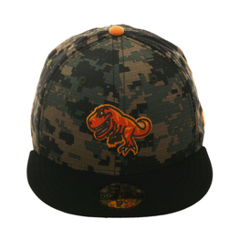 New Era 59Fifty Dionic T- Rex Hat - Camouflage , Black , Orange