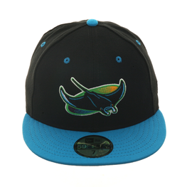 Exclusive New Era Devil Rays Hat - 2T Black, Light Blue