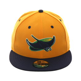 Exclusive New Era Tampa Bay Devil Rays Hat - 2T Gold, Light Navy