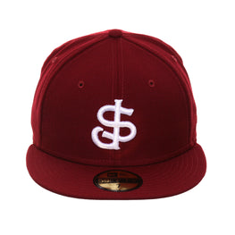 Exclusive 59fifty New Era San Jose Giants Hat - Cardinal, White