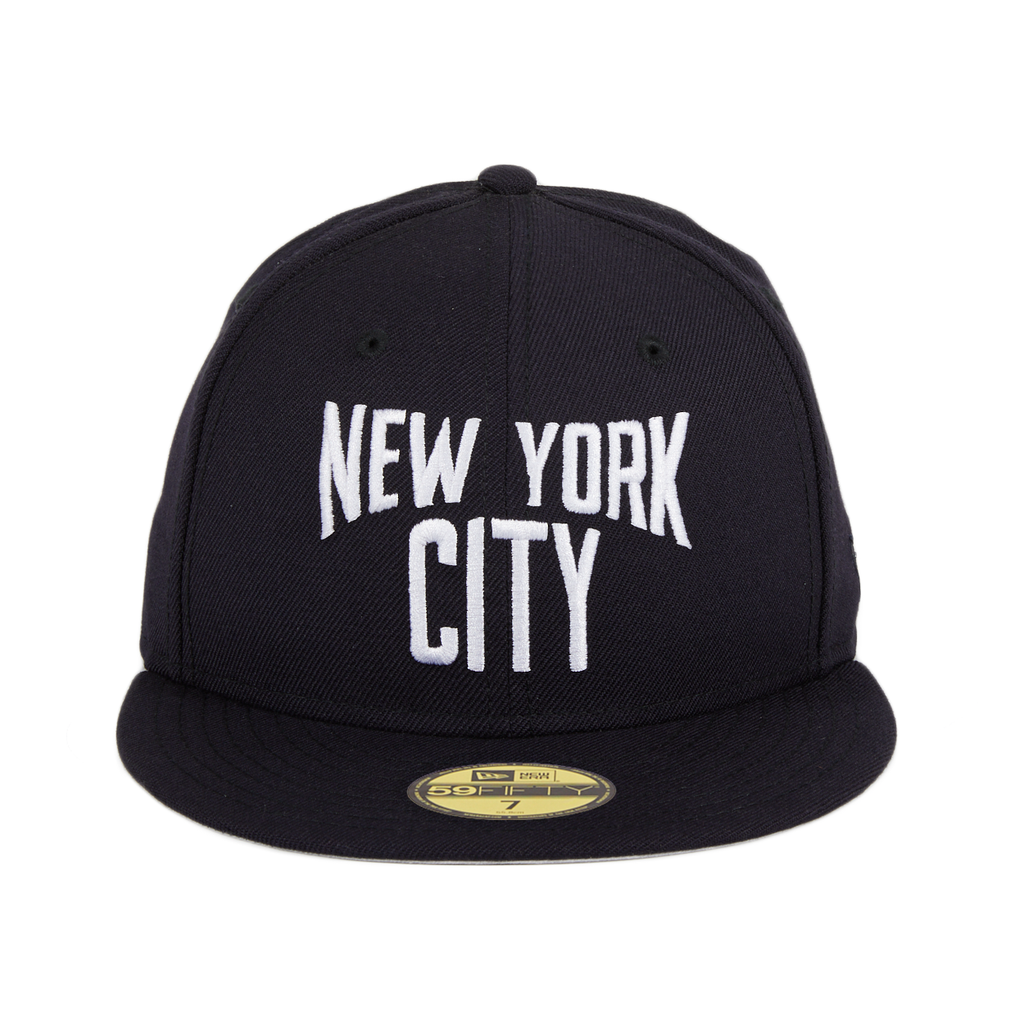 Exclusive New Era 59Fifty New York City Lennon Hat - Navy