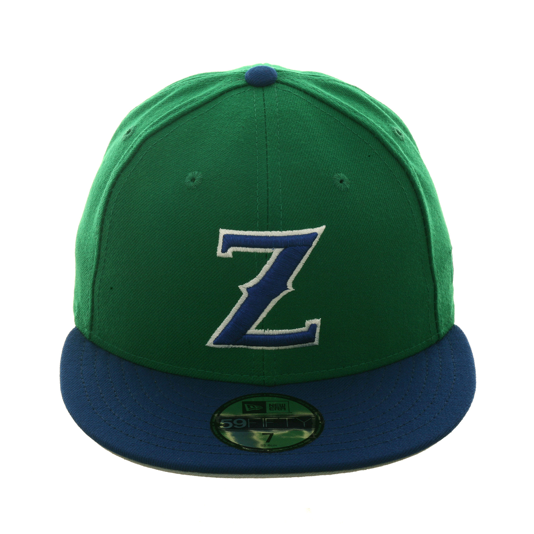 Exclusive New Era 59Fifty Denver Zephyrs Hat - 2T Kelly Green, Royal