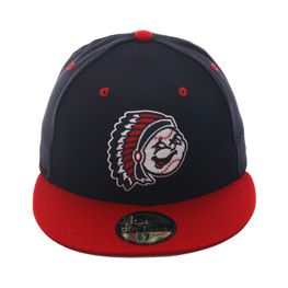 Exclusive New Era 59Fifty Peoria Chiefs Hat - 2T Navy, Red