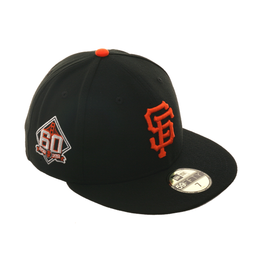 5a84f71b240 ... get exclusive new era 59fifty san francisco giants 60th anniversary  patch hat black orange ce8c1 a0520