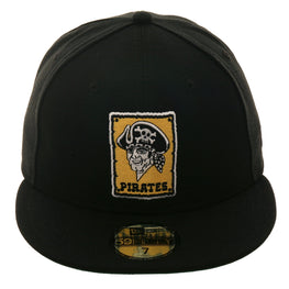Exclusive New Era 59Fifty Pittsburgh Pirates Logo 1967 Hat - Black