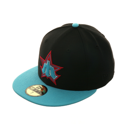Exclusive New Era 59Fifty Seattle Mariners 1981 Hat - 2T Black, Light Blue