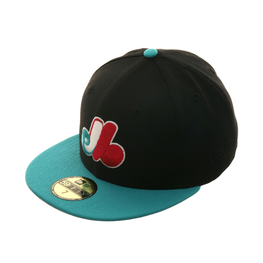 Exclusive New Era 59Fifty Montreal Expos Hat - 2T Black, Teal, Pink