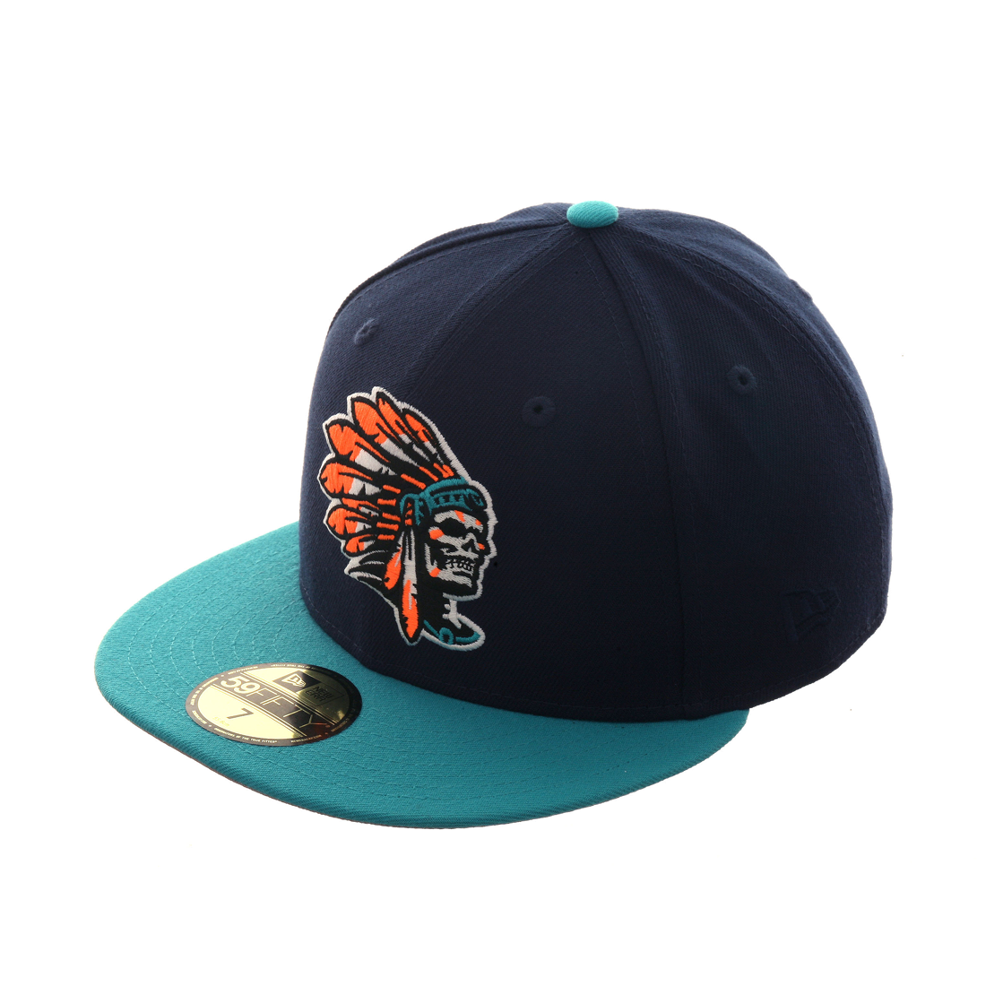 Exclusive New Era 59Fifty Skull Chief Hat - 2T Navy 43560dfe8