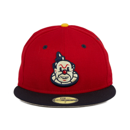 New Era 59Fifty Thrill SF Playland Clowns Hat - 2T Red, Navy