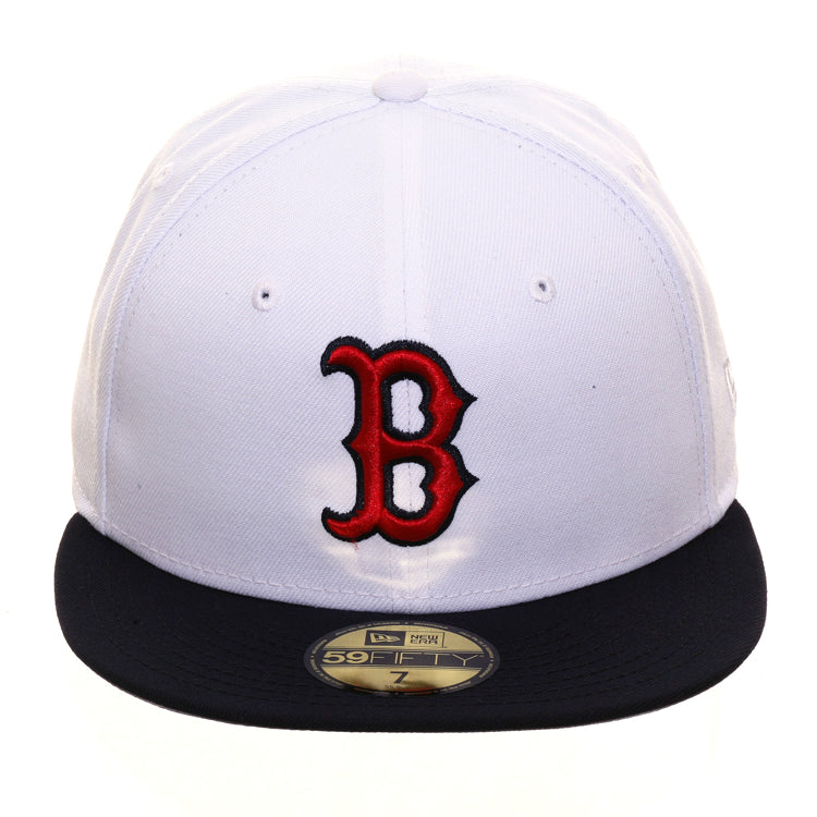 cc43375bd Exclusive New Era 59Fifty Boston Red Sox Hat - 2T White, Navy