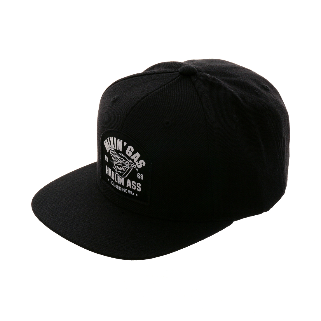Fasthouse Mixin Gas Snapback Hat - Black – Hat Club 78e11647272f